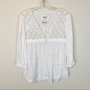 Anthropologie Malvin 100% Linen Top